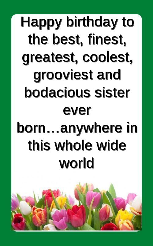 best quotes on sister birthday