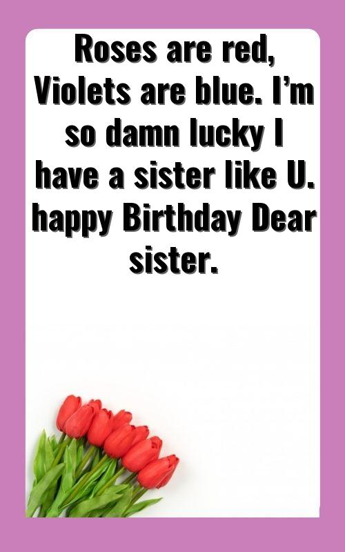 best thoughts for sister birthday