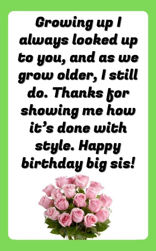 birthday cake quotes for sister