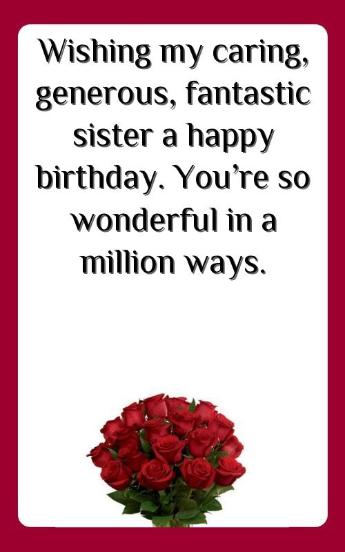 birthday message for a friend like sister