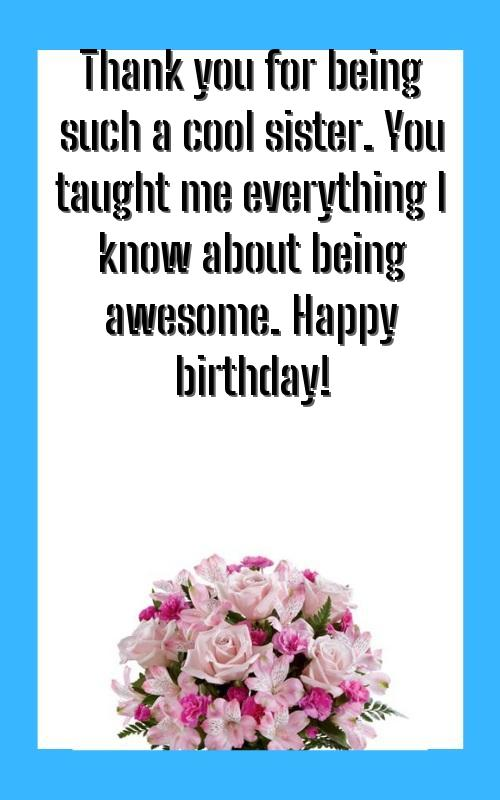 birthday quotes for sister daughter