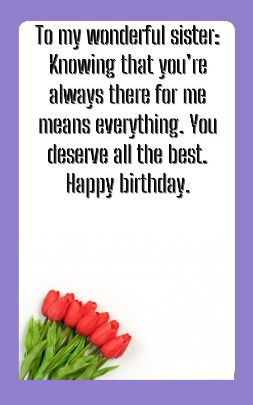 birthday wishes for friend like a sister