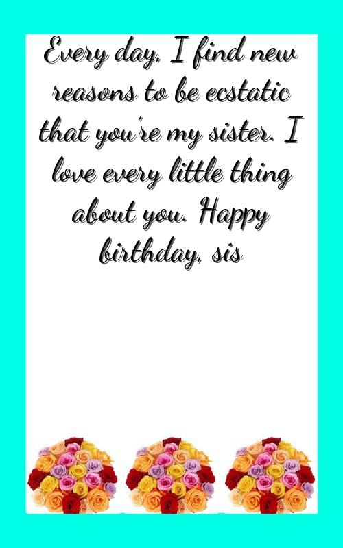 birthday wishes for little sister in english