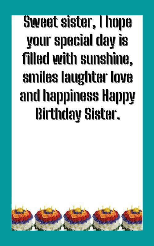 birthday wishes for my kid sister