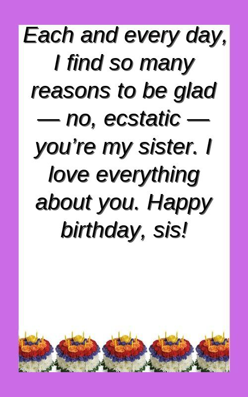 birthday wishes for sister baby girl