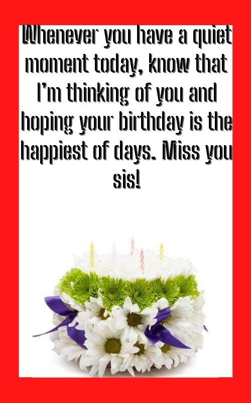 birthday wishes quotes sister