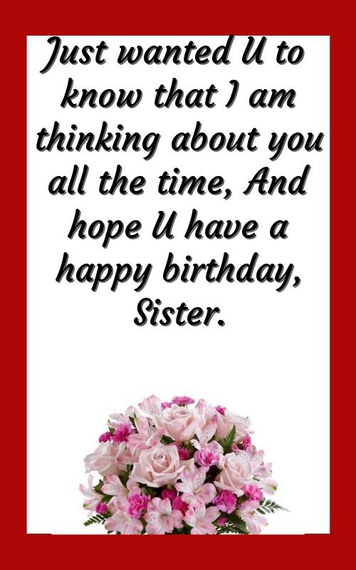 birthday wishes quotes to sister