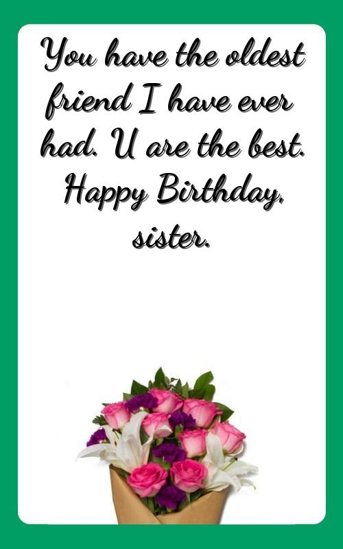 birthday wishes to an elder sister