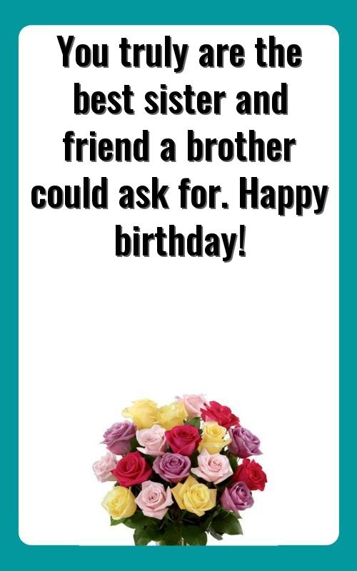 birthday wishes to friend like sister