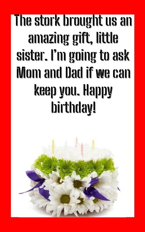cool birthday wishes for sister