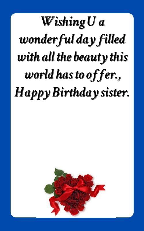 happy birthday funny wishes for sister