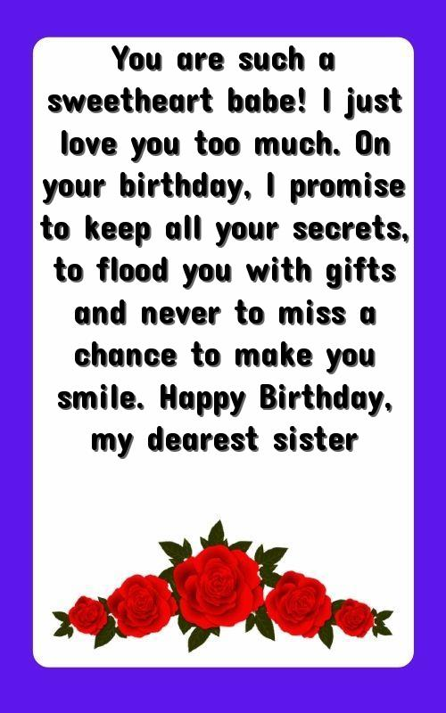 happy birthday quotation for sister