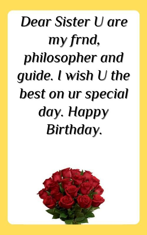 msg for sister birthday