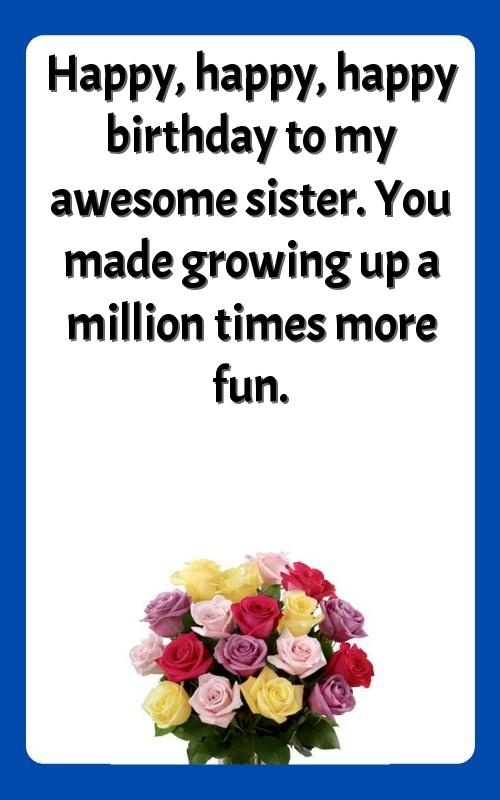 quotes for sister birthday funny