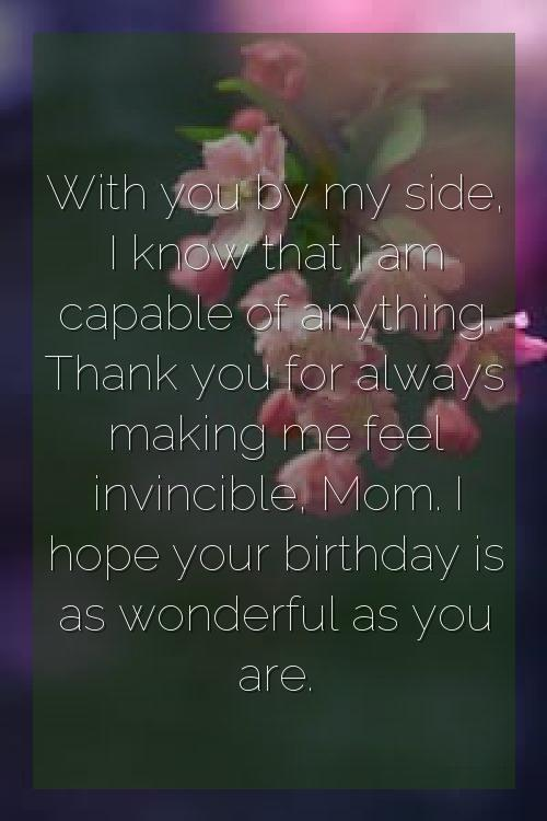 best wishes for birthday to mom