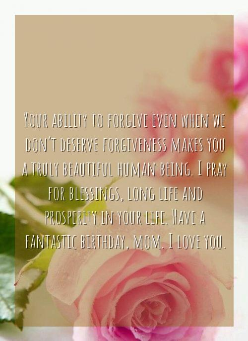 birthday blessings for mother