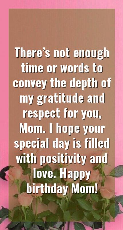 birthday wishes for single mother