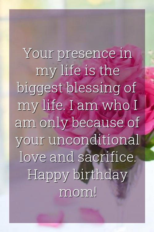 birthday wishes to a friends mom