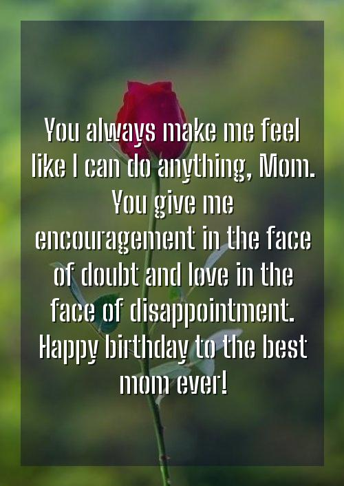 happy birthday mama wishes in english